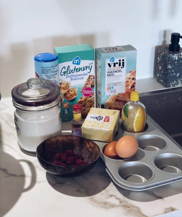 ingredienten glutenvrij roze koek