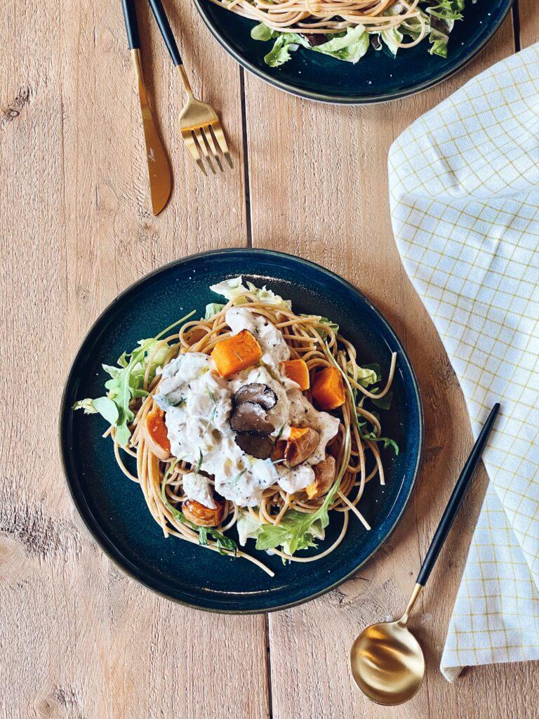 Truffelpasta: spaghetti met pompoen, boleet en truffel