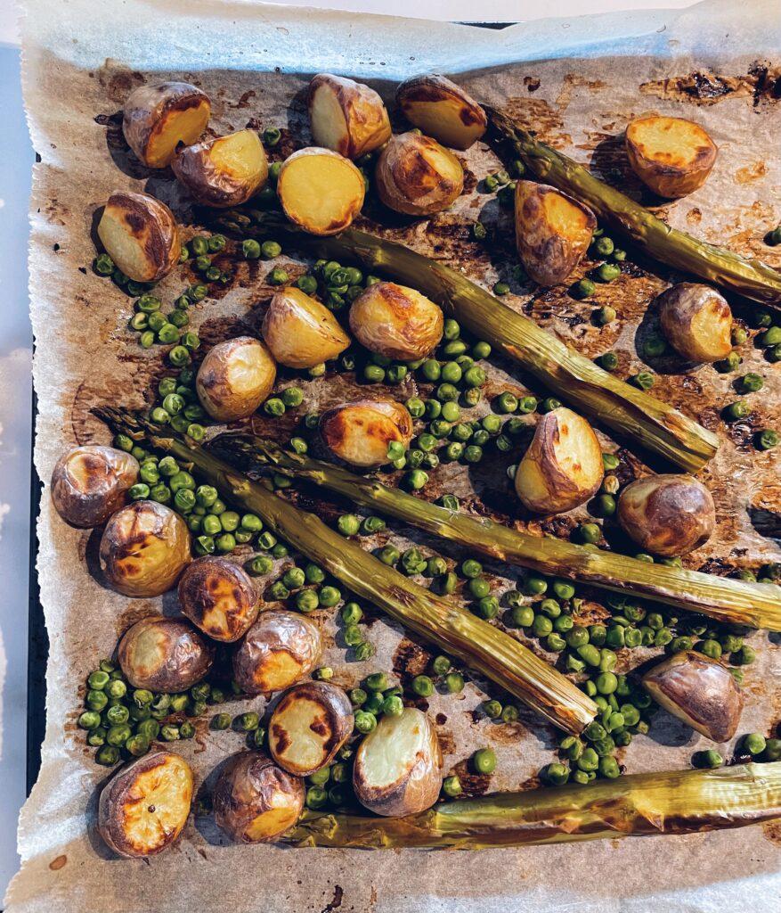 Aardappelsalade met asperge