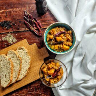 eiwitrijke pompoencurry