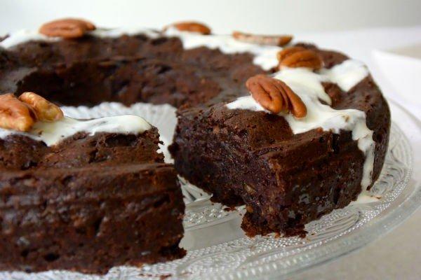 gezonde chocoladecake met courgette