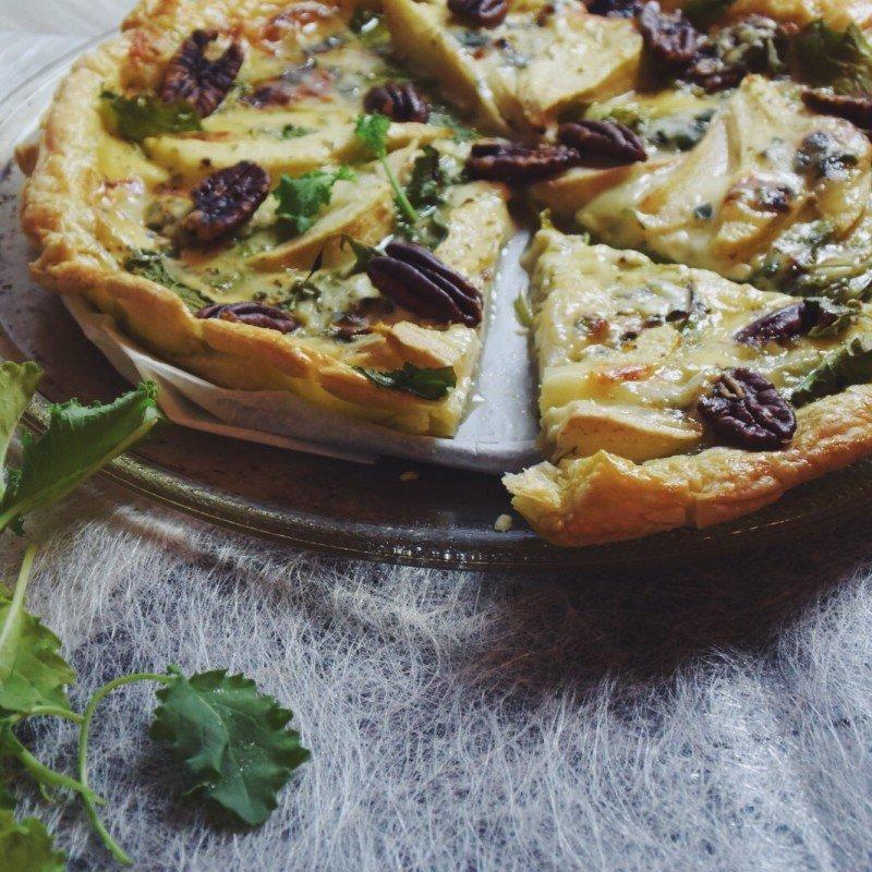pizza, foodness, peer, blauwe kaas