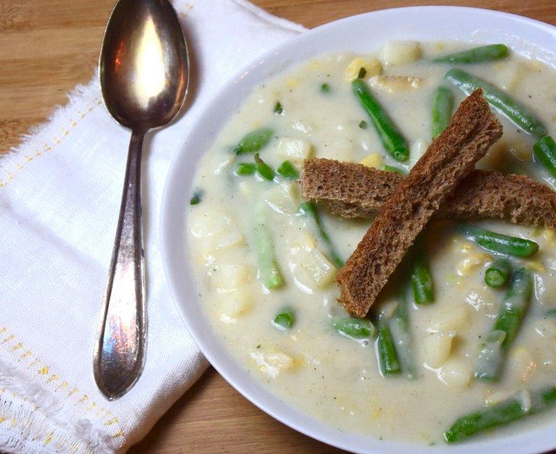 Lactosevrij & glutenvrij: Chowder met aardappel kabeljauw