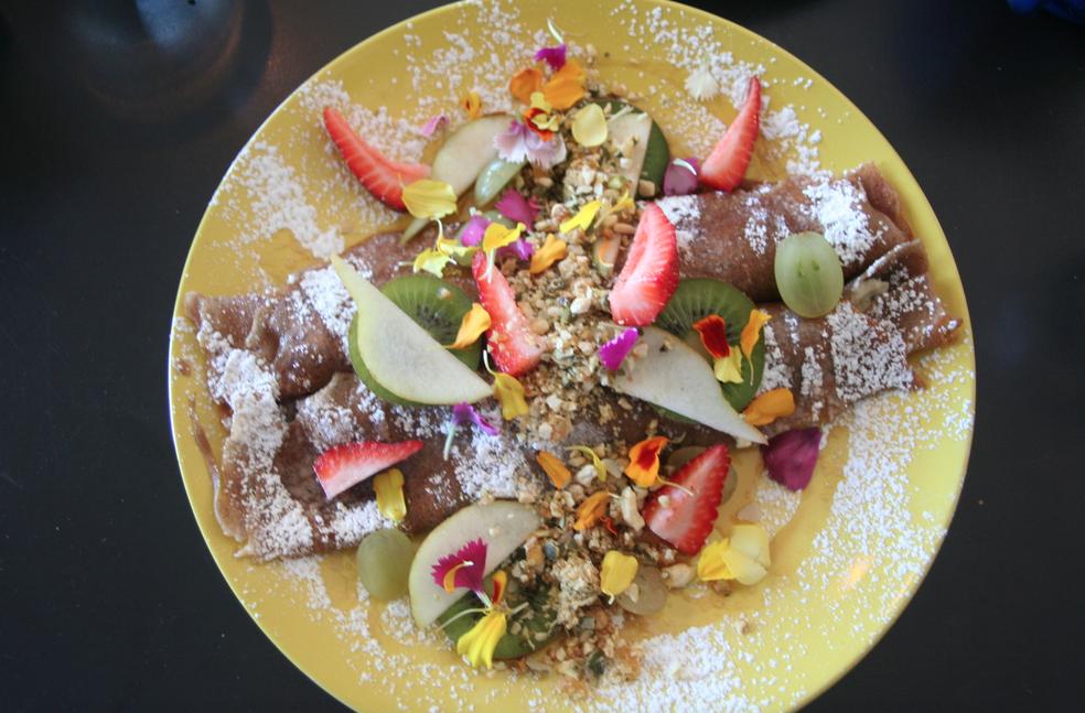 Brunch recept: boekweitpannenkoek met ricotta en vers fruit