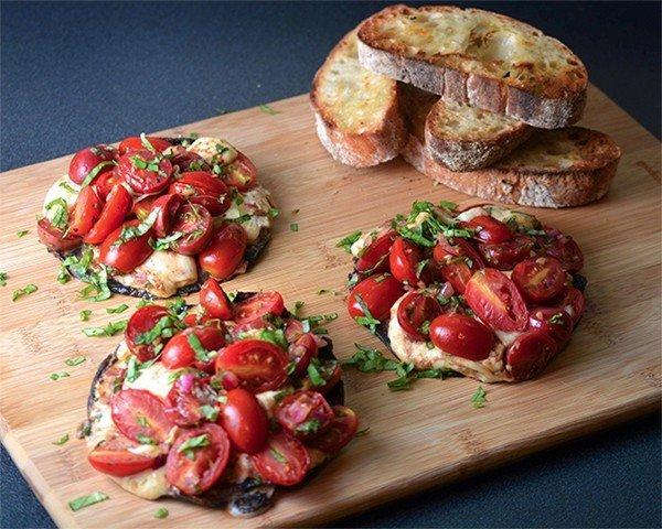 portobello mozzarella tomaat