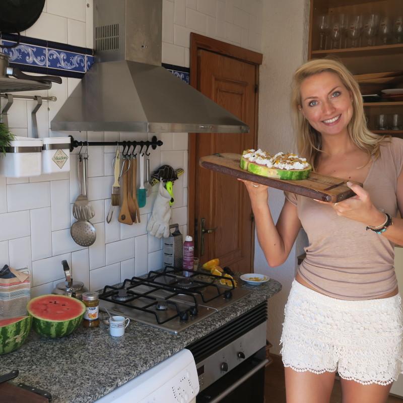 Taartje van Claartje #4: watermeloentaartje op Ibiza
