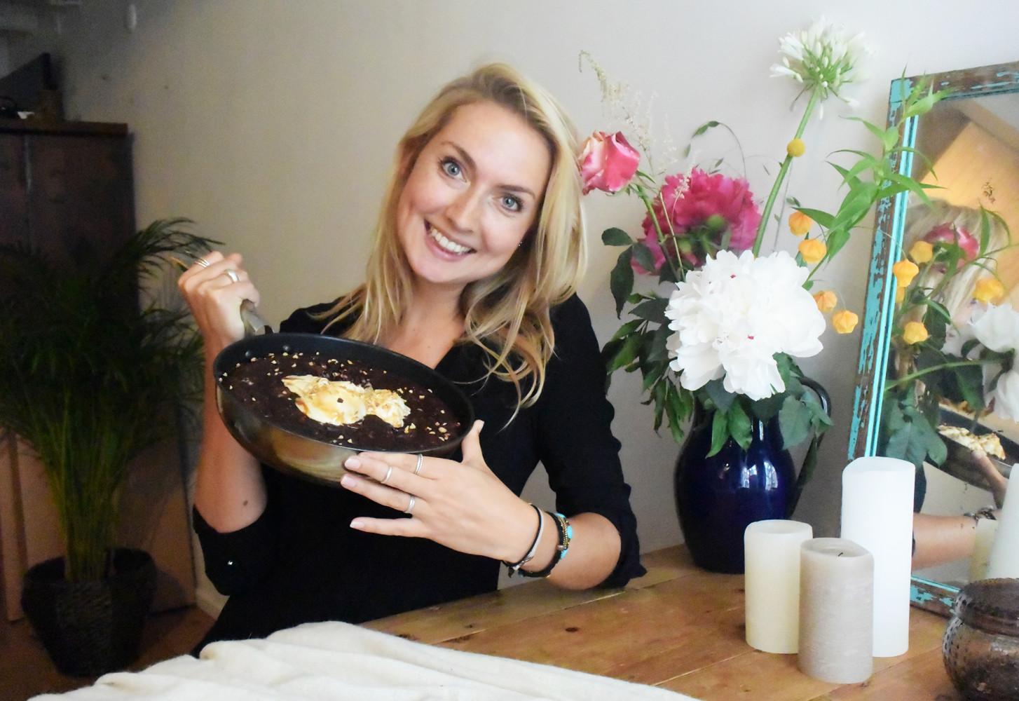 Koekenpan brownie met courgette (!)
