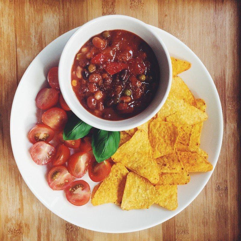 Comfort food / katervoedsel: chili sin carne met CHIPS