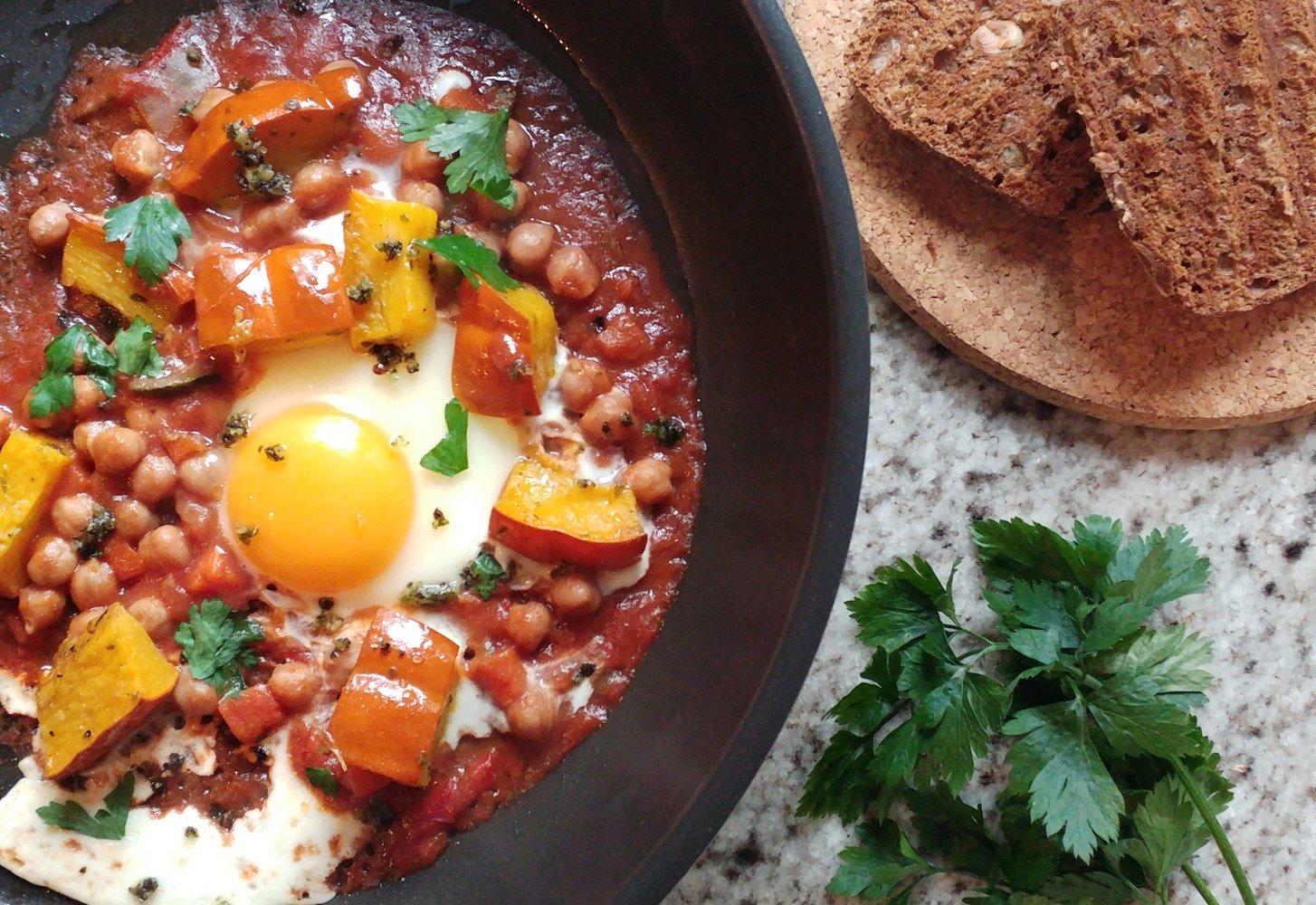 Simpel low carb ontbijt: super snelle shakshuka