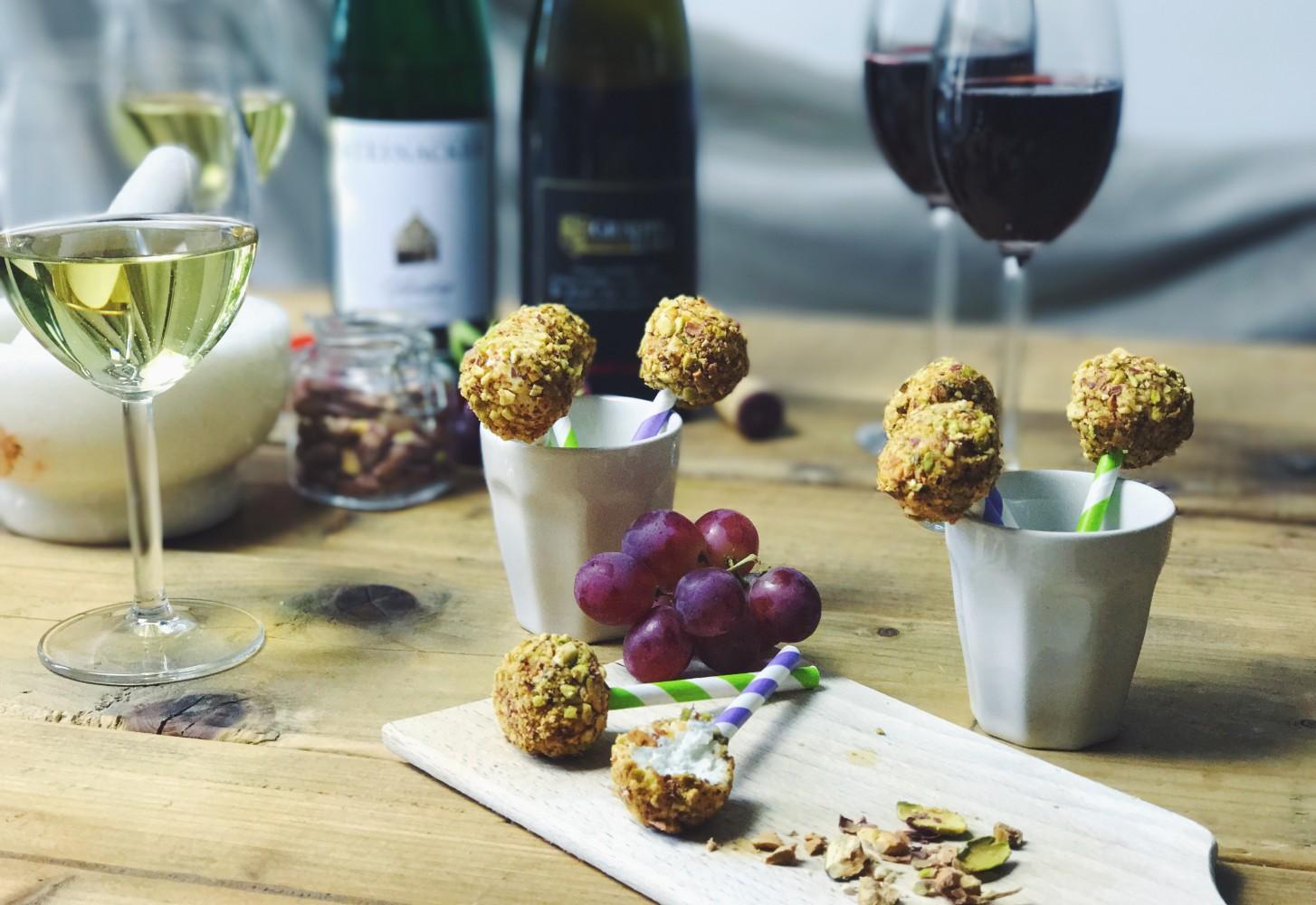 Wine bites: geitenkaaslolly's voor bij wijnknallers