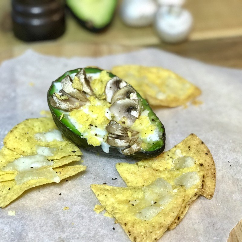 Favorite Food Five met Annemerel: Avocado ei chips mozzarella paddenstoel