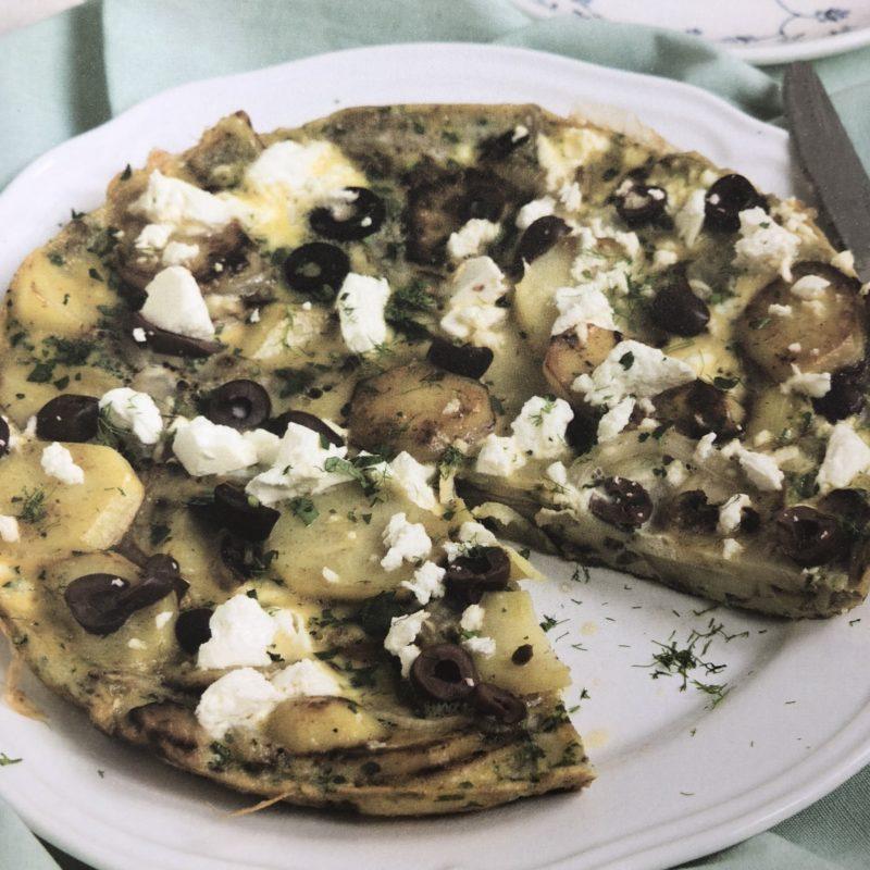 Aardappeltortilla met venkel & feta uit het Koken met KeukenLiefde
