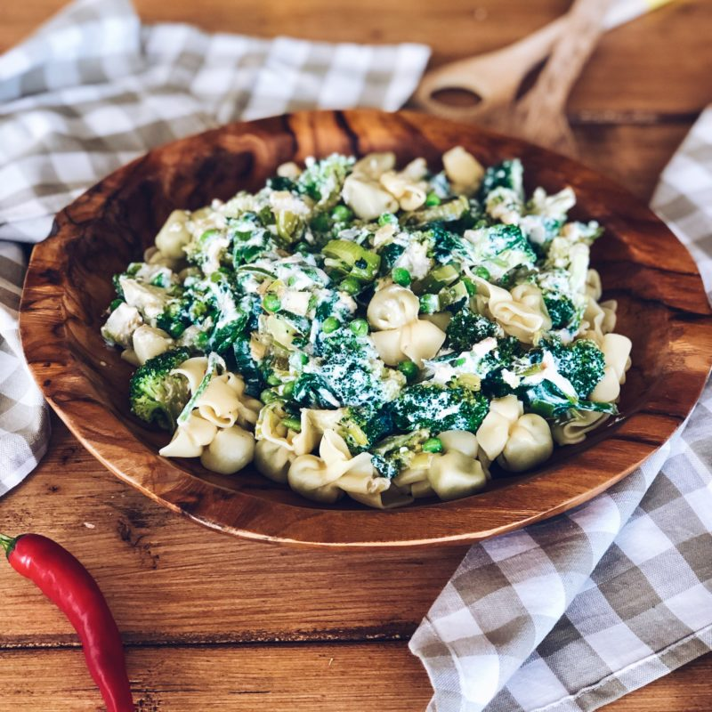 Pasta met ricotta, bimi en doperwten | Vega hoofdgerecht