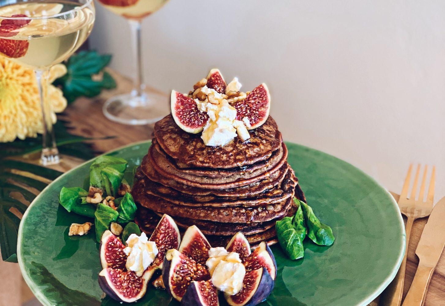 Hartige pannenkoeken met biet, ricotta en vijg